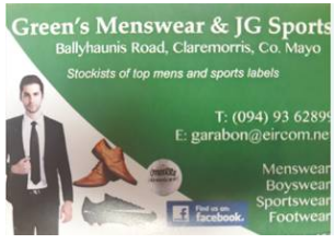 Green's Menswear & JG Sports